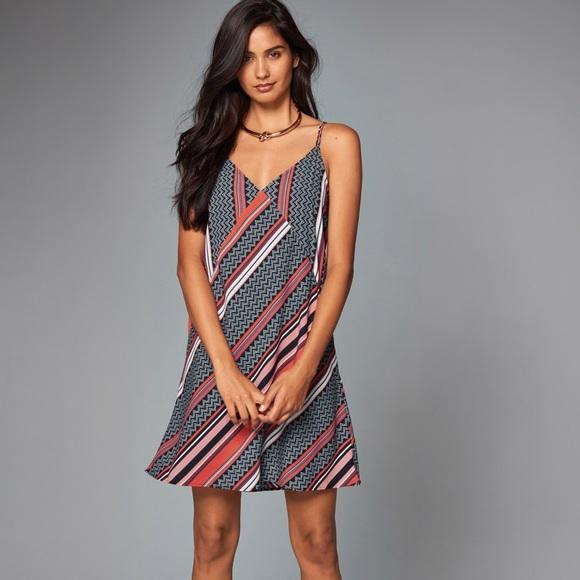 5177f1eb7b Abercrombie & Fitch Mixed Print Slip Dress